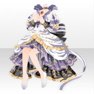 (Tops) Imperial Princess Ribbon Tail Dress Style ver.A white