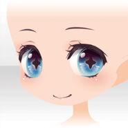 (Face) Undercore Cute Smile Face ver.A blue