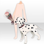 (Hand Accessories) Rose in hand with Dalmatian ver.A pink