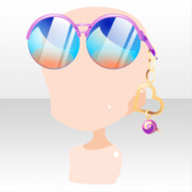(Head Accessories) Glittery Zombies Candy Sunglasses ver.A blue