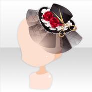 (Head Accessories) Weird Killer Rose Tulle Hat ver.A black