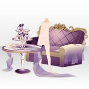 (Avatar Decor) Elegant Room Sofa and Table ver.A purple