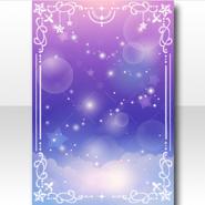 (Wallpaper Profile) Cute Star Nebula Zodiac Wallpaper ver.A purple