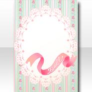 (Wallpaper Profile) Dolls Tea Party Lace Ornament Wallpaper ver.A green
