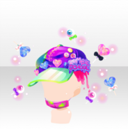 (Head Accessories) Glittery Zombie Lollipop Cap ver.A purple