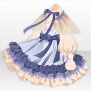 (Tops) Hollow Park Frill Maid Mini Dress ver.A blue
