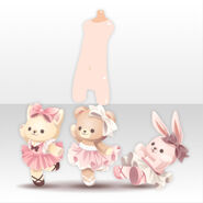 (Body Accessories) Peluche Animal Ballerina ver.A pink