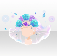 (Head Accessories) Jewelry Princess Zoisite Flower Crown Veil ver.A purple