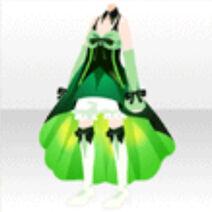 (Tops) Off Shoulder Elegant Ribbon Dress Tops ver.A green
