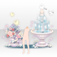 (Avatar Decor) Lolita Paradise Water Fountain and Flower Bed ver.A white