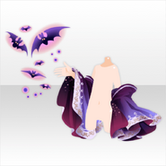 (Face Accessories) Hallowitch Bat Controlled by Witch ver.A purple