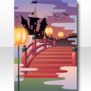 (Wallpaper Profile) Mononoke Mysterious Bridge to Otherworld Wallpaper ver.A red