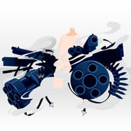 (Hand Accessories) Punk Battle Machine Gun ver.A blue