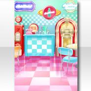 (Wallpaper Profile) Pop Waitress American Diner Wallpaper ver.A pink