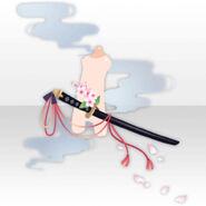 (Body Accessories) Falling Cherry Blossoms Katana ver.A white