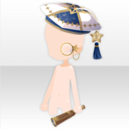 (Head Accessories) Traveling Stars Astronomer Hat ver.A white