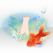 (Avatar Decor) Blooming Flowers Getting Together with Goldfish ver.A red