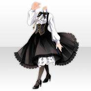 (Tops) La Clarte Mystic Lady Style ver.A black