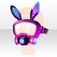 (Head Accessories) Glittery Zombie Rabbit Ears Gas Mask ver.A purple