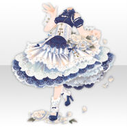 (Tops) Dancing Girl Frilled Dress Style ver.A blue