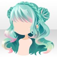 (Hairstyle) DayDream Shepherd buns on Hair ver.a green
