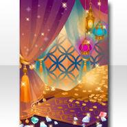(Wallpaper Profile) Arabian Night Gold Cave Wallpaper ver.A yellow