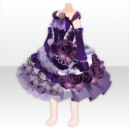 (Tops) Dark Rose Shiny Lace Dress ver.A purple