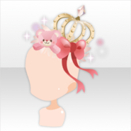 (Head Accessories) LOVE MY TEDDY Crown ver.A red