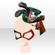 (Head Accessories) Mask & Skull Mini Hat ver.A green