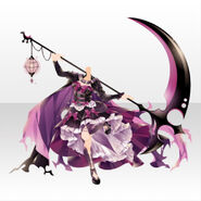 (Tops) Underworld Death Scythe Gothic Cape Dress ver.A pink