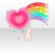 (Avatar Decor) U.S. Cheerleader Rainbow Hearts ver.A pink