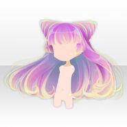(Hairstyle) Magical Horns Gradation Hair ver.A purple