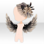 (Head Accessories) Underworld Wing & Cocktail Hat ver.A gray
