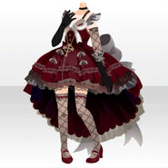 (Tops) Maiden Tail Cut Dress Style ver.A red