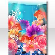(Wallpaper Profile) Blooming Flowers Dreamy World Wallpaper ver.A blue