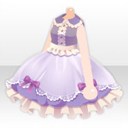 (Tops) Royal Girl Fluffy Lace Dress ver.A purple