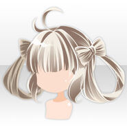 (Hairstyle) Tamayura Twin Loops Hair ver.A white