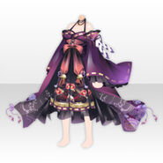 (Tops) Horror Shrine Maiden Dress ver.A purple