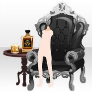 (Back Accessories) Undercore Wing Chair and Whisky ver.A black