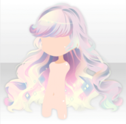 (Hairstyle) Night Sky Shiny Long Hair ver.A white