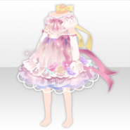 (Tops) Sweet Rose Jewelry Ribbon Dress ver.A pink