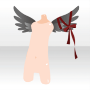 (Body Accessories) Fallen Feather Young Angel's Feathers ver.A black