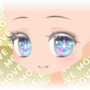 (Face) Shiny Stained Glass Wide Open Eyes Face ver.A blue