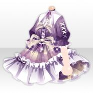 (Tops) Hydrangea Lace-Up One-Piece ver.A purple