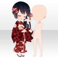 (Body Accessories) With Tsubaki Left ver.B red