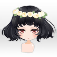 (Hairstyle) Waking Up Princess Flower Crown Hair ver.A black