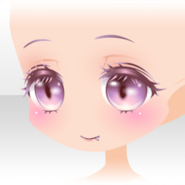 (Face) Cute Devil Smile Face ver.A pink