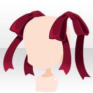 (Head Accessories) Undercore Big Ribbon ver.A red