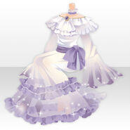 (Tops) Cloud Princess Laced Night Dress ver.A white