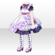 (Tops) Glass Shower Rose Dress ver.A purple